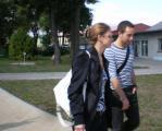 am nächsten Morgen - SchlagzeugImitator mit seiner hübschen Freundin..jpg