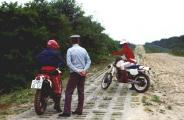 Im Frühjahr 1990 Verwarnung auf dem Kolonnenweg.jpg