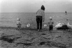 Am Südstrand Sellin Oliver und Michael September 1990 -1-.JPG