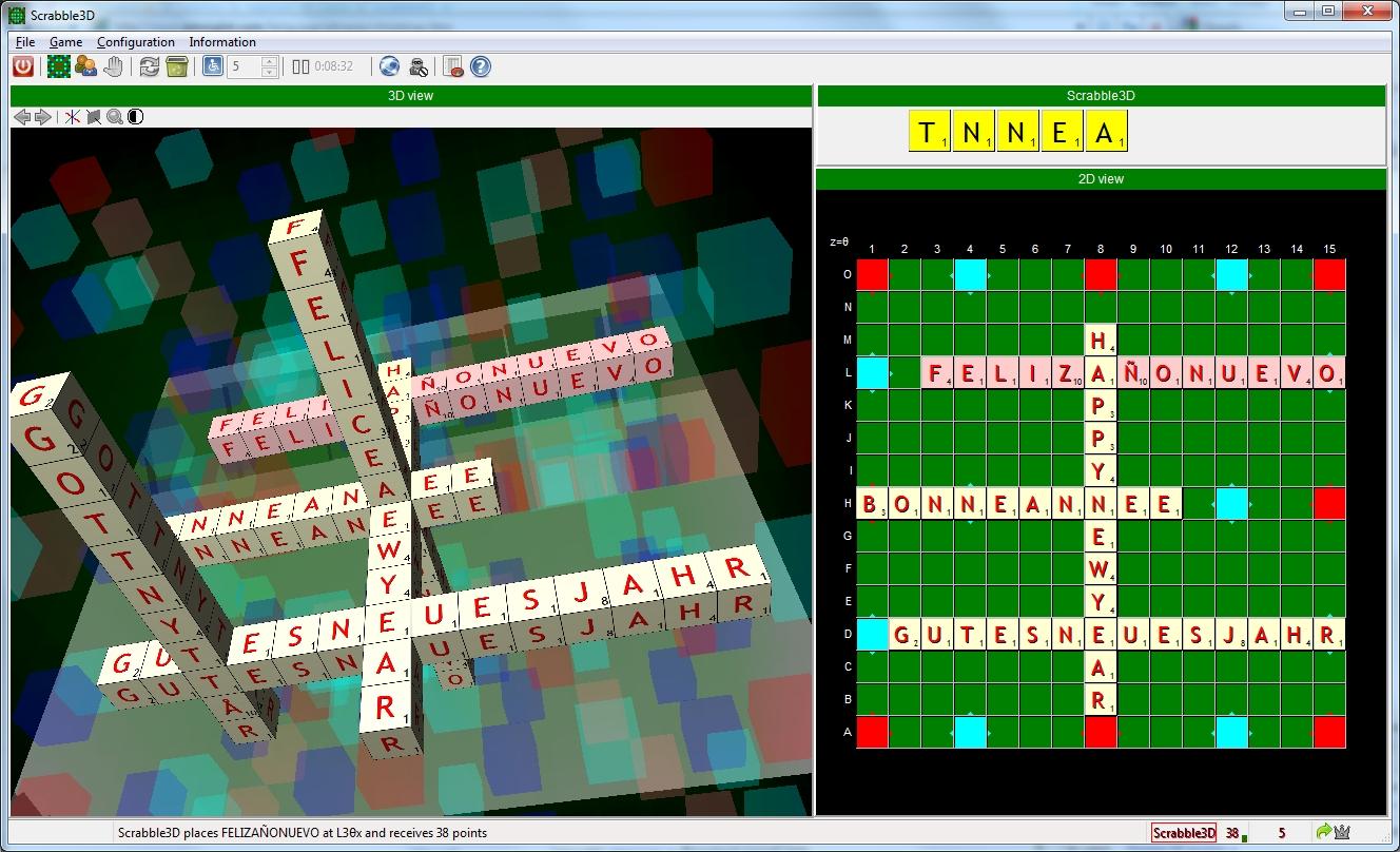 Scrabble3D wünscht ein Gutes Neues Jahr 2012