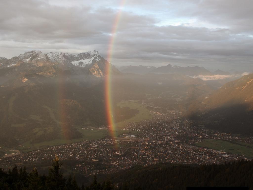 27.09.2017 - Morgenstimmung bzw. Regenbogen @ Wankhaus, Garmisch Partenkirchen (DE)