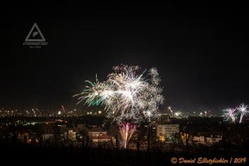 01.01.2019 - Feuerwerk über Mödling(NÖ)