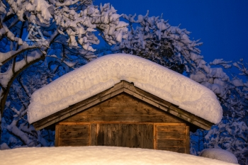 10.01.2019 - Verschneite Gartenhütte @Altenmarkt a.d. Triesting (NÖ)