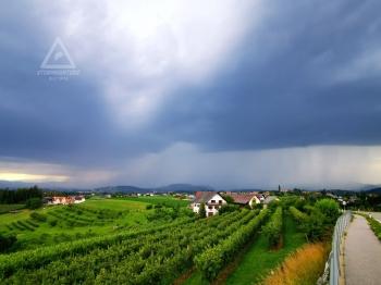 Gewitter mit Hagel 28.06.2020, Steinbergstraße Blickrichtung West