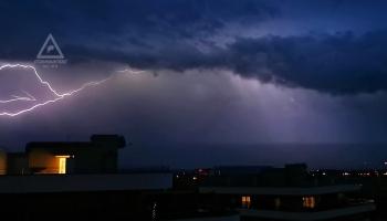 Gewitter 30.06.2020, Graz, Blickrichtung Osten