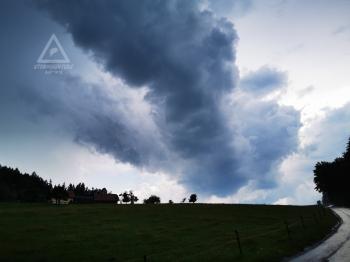 Gewitter mit Hagel 28.06.2020, Rückseite (Westen) des Gewitters, Blickrichtung West