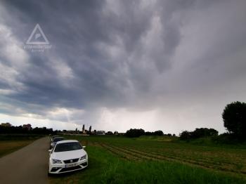 24.06.2020 Gewitter Nordwest von Graz. Foto von Kaulsdorf aus