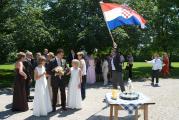 Hochzeit kroatische Fahne.JPG