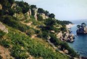 Kolovoz 1969. Plažni put od List kamena do Punta rata (Dugi .jpg