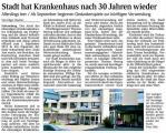 Stadt hat Krankenhaus nach 30 Jahren wieder (Schwarzwälder Bote v. 10.08.2012).jpg