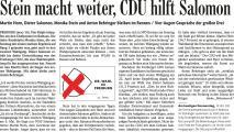 Stein macht weiter, CDU hilft Salomon (Badische Zeitung v. 26.04.2018).JPEG