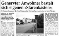 Genervter Anwohner bastelt sich seinen eigenen 'Starenkasten' (Schw. Bote v. 18.07.2009).jpg