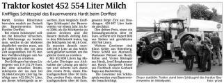 Traktor kostet 452 554 Liter Milch (Schw. Bote v. 21.07.2009).jpg