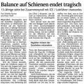 Balance auf Schienen endet tragisch (Schw. Bote v. 20.02.2010).jpg