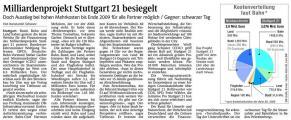 Milliardenprojekt Stuttgart 21 besiegelt (Schw. Bote v. 03.04.2009).jpg