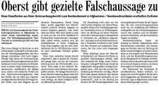 Oberst gibt gezielte Falschaussage zu (Bad. Zeitung v. 18.01.2010).jpg