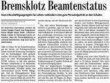 Bremsklotz Beamtenstatus (Bad. Zeitung v. 22.07.2009).jpg