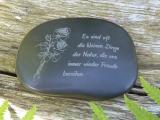 Hot Stones mit Gravur mit Spruch - Gedenkstein