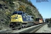 7762_1040307720- Moss Run, Virginia, USA, 28.10.1994 GE C40-8W (Dash 8-40CW CSX Transportation.jpg