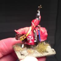 Medieval mounted bishop