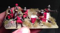 medieval infantry with spear
