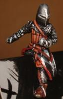 Medieval knight figure painted