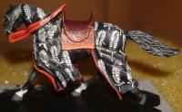 medieval horse painted miniature