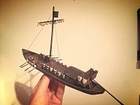 Medieval riverboat model