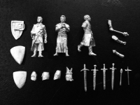 Medieval miniature knights models