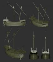 Medieval Italian Ship model