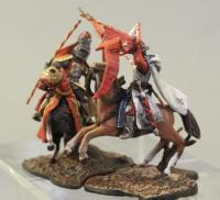 Mounted medieval knight