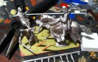medieval diorama in progress 1