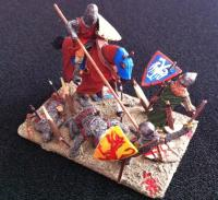 Medieval battle diorama first