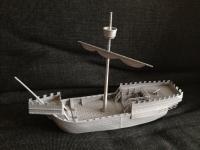 model ship primed