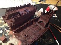 Medieval ship model parts