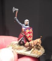 Medieval english knight 25mm miniature