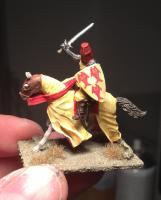 Mounted crusader knight