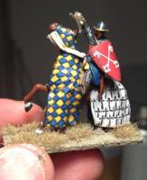Crusader knight miniature