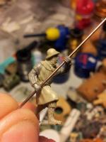 Medieval spearman advancing