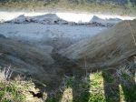 Steilküste Stohl Schwemmfächer von oben
