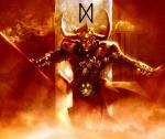 Loki mit seiner Rune(Dagaz)