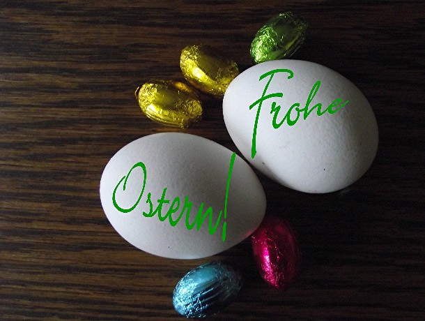 Ostergrüße, Schokoladeneier