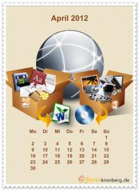 Büroservice Jahreskalender  April 2012