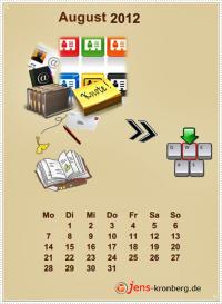 Büroservice Jahreskalender  August 2012