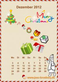 Büroservice Jahreskalender  Dezember 2012