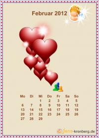Büroservice Jahreskalender  Februar 2012