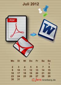 Büroservice Jahreskalender  Juli 2012