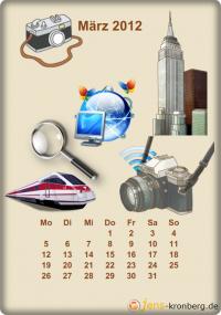 Büroservice Jahreskalender  Maerz 2012