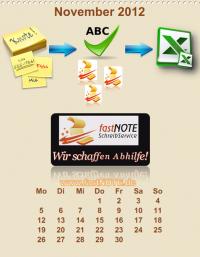 Büroservice Jahreskalender  November 2012