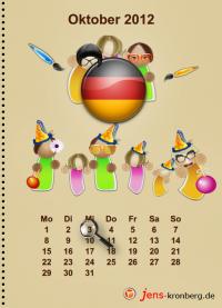 Büroservice Jahreskalender  Oktober 2012